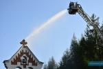Ćwiczenia strażackie w Trzcinicy