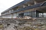 """Rozbiórka budynku biurowego dawnego """"Furnelu"""" - ulica Przemysłowa"""