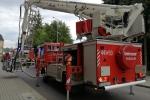 Pożar w bloku przy ulicy Kochanowskiego w Jaśle