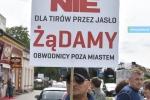 Protest mieszkańców ulicy Konopnickiej w sprawie KG2