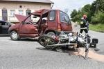 Wypadek drogowy w Majscowej