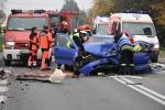 Wypadek w Trzcinicy