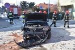 Zderzenie dwóch samochodów na ulicy Szopena