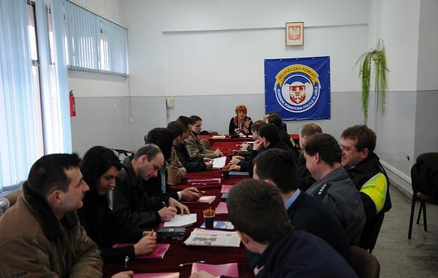 Szkolenie dla jasielskich policjantów (fot. KPP w Jaśle)