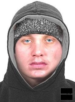 Portret pamięciowy poszukiwanego napastnika (fot. KPP w Jaśle)