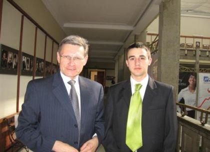 Tomasz Szeredy z prof. Leszkiem Balcerowiczem (fot. arch.)