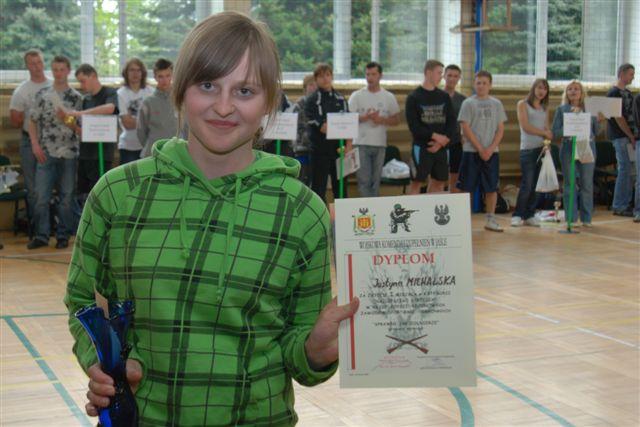 Laureatka turnieju Justyna Michalska z Zespołu Szkół nr 3 w Jaśle (fot. ZS nr 3 w Jaśle)