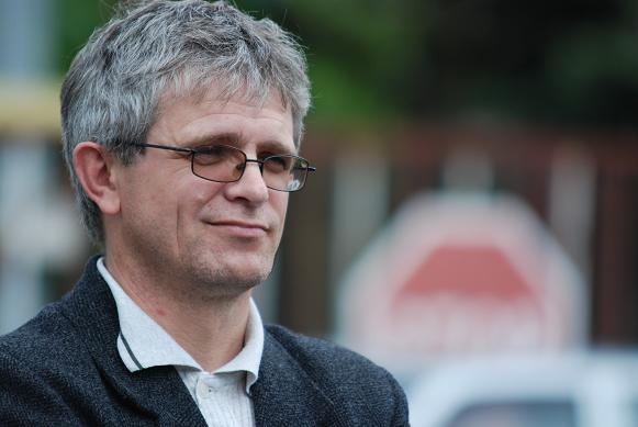 Edmund Gondek, przewodniczący Solidarności w jasielskim Pektowinie. Fot. Damian Palar