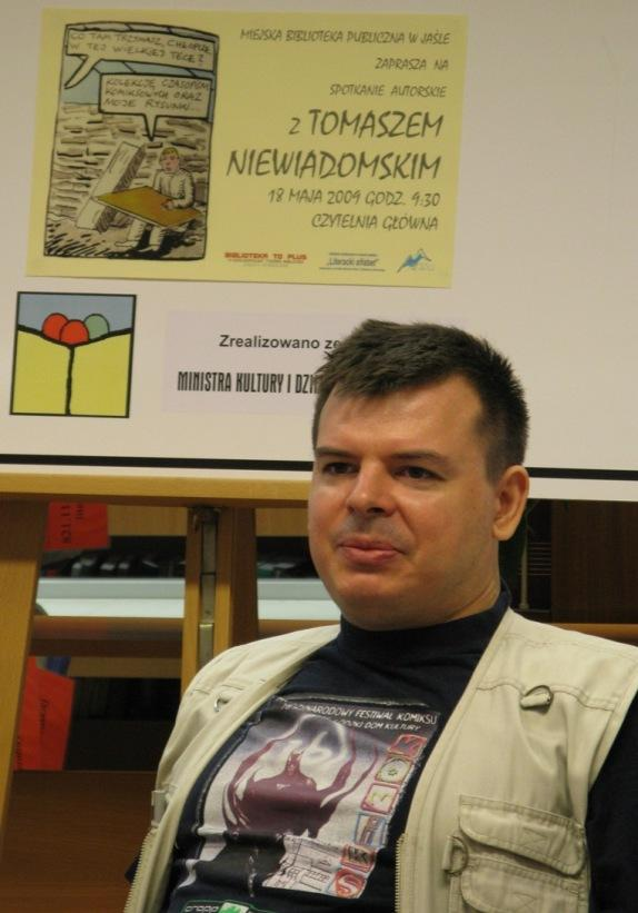 Tomasz Niewiadomski, fot. MBP w Jaśle