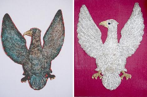 Symbol Gwardii Dębowieckiej przed i po renowacji. Fot. archiwum