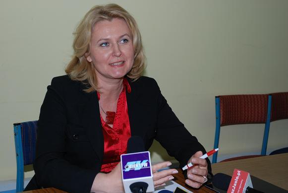 Konferencja prasowa poseł Elżbiety Łukacijewskiej. Fot. Damian Palar