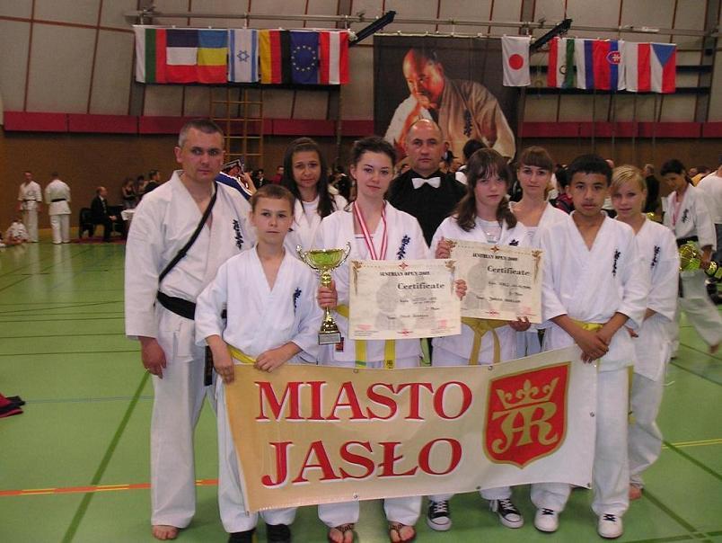 Jasielscy karatecy w Austrii. Fot. archiwum