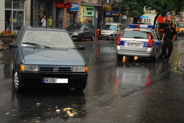 Wypadek na ulicy Kościuszki w Jaśle. Fot. Damian Palar