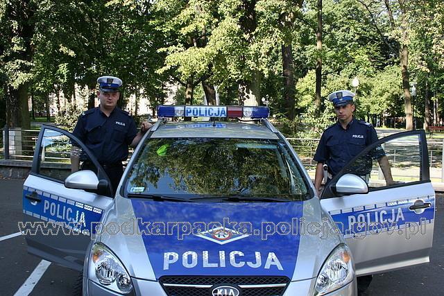 Policjanci, którzy uratowali życie kobiecie. KPP w Jaśle