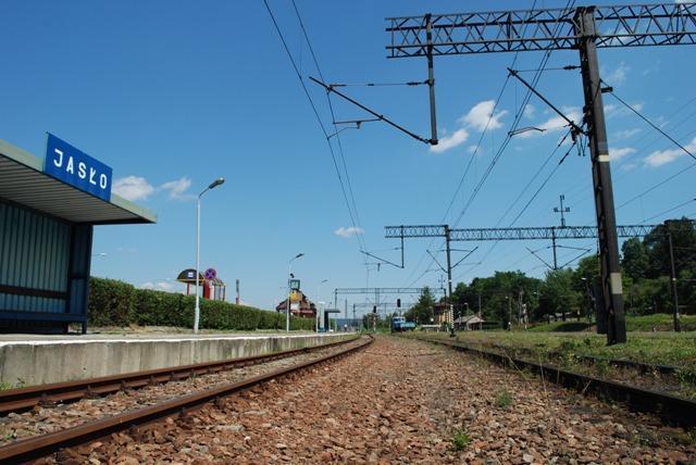 Ulica Węzeł w Jaśle niegdyś był ważnym punktem na kolejowej mapie Polski. Fot. terazJaslo.pl / Damian Palar