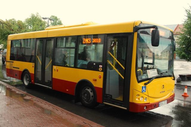 Władzom miasta bardziej spodobał się autobus marki Autosan A0808MN Sancity, który był testowany na początku lipca br. Fot. terazJaslo.pl / Damian Palar
