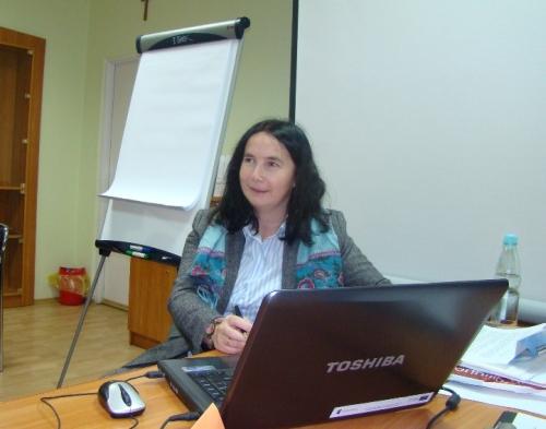 Spotkanie prowadziła psycholog Magdalena Ręka. Fot. archiwum UMJ