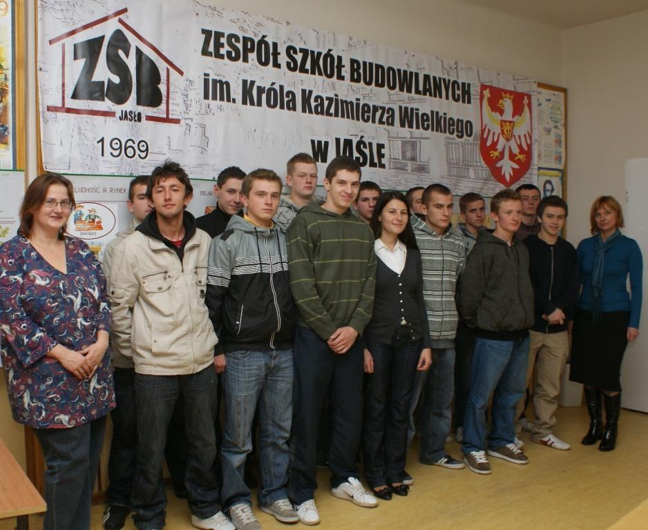 Uczestnicy projektu. Fot. archiwum ZSB w Jaśle.