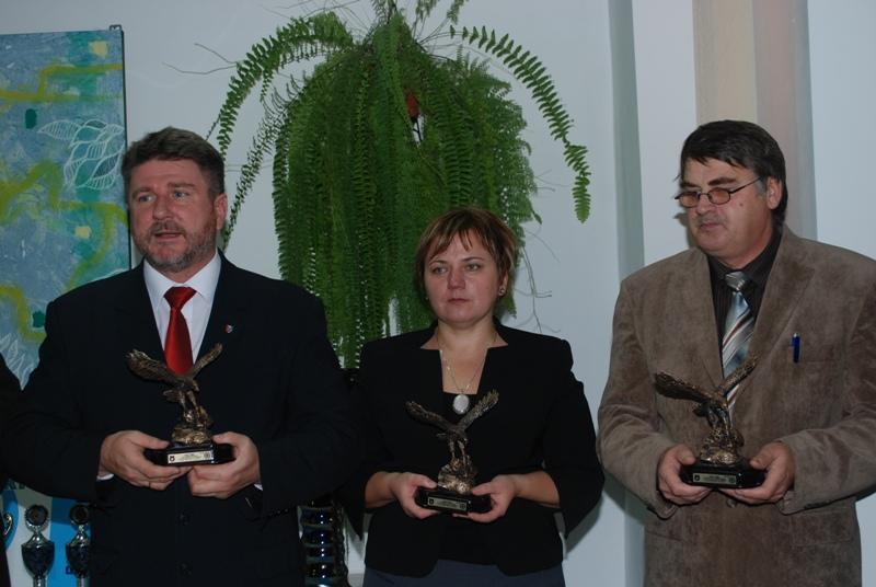 Uhonorowani statuetkami Orły 2006. Fot. Damian Palar / terazJaslo.pl