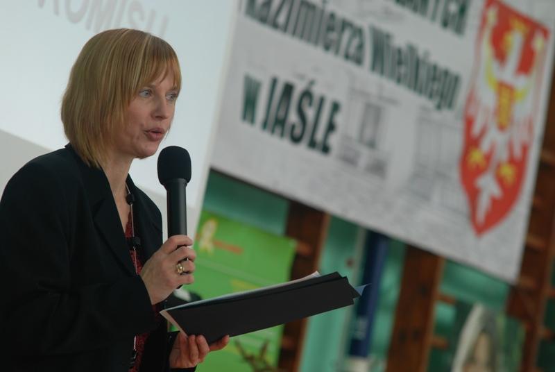 Dorota Czernecka, dyrektor ZSB w Jaśle. Fot. Damian Palar / terazJaslo.pl