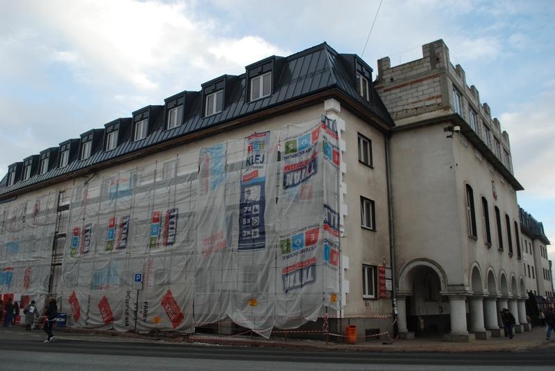 Budynek Starostwa Powiatowego w remoncie. Fot. terazJaslo.pl / Damian Palar