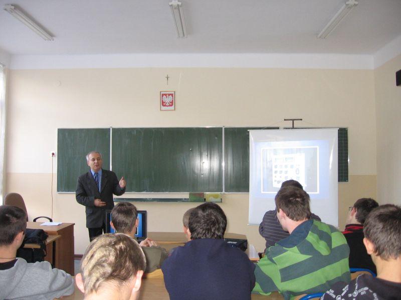 Spotkanie z Krzysztofem Piechem, prezesem firmy SOLGAM. Fot. archiwum ZST