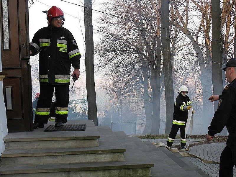 Ćwiczenia strażackie w Wolicy. Fot. UG w Jaśle