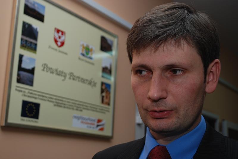 Rafał Gużkowski, dyrektor DPS w Foluszu. Fot. Damian Palar