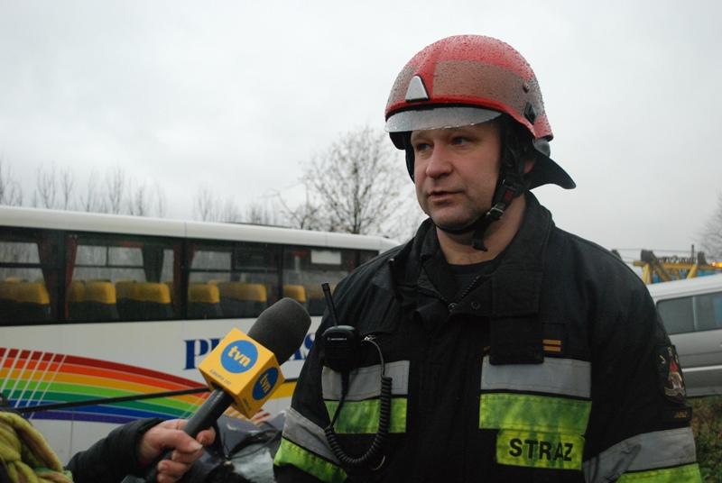 Dowódca JRG Jasło mł. bryg. Marek Górniak. Fot. Damian Palar / terazJaslo.pl