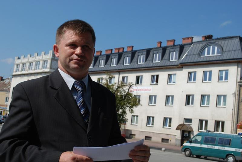 Adam Kmiecik, starosta jasielski. Fot. terazJaslo.pl / Damian Palar