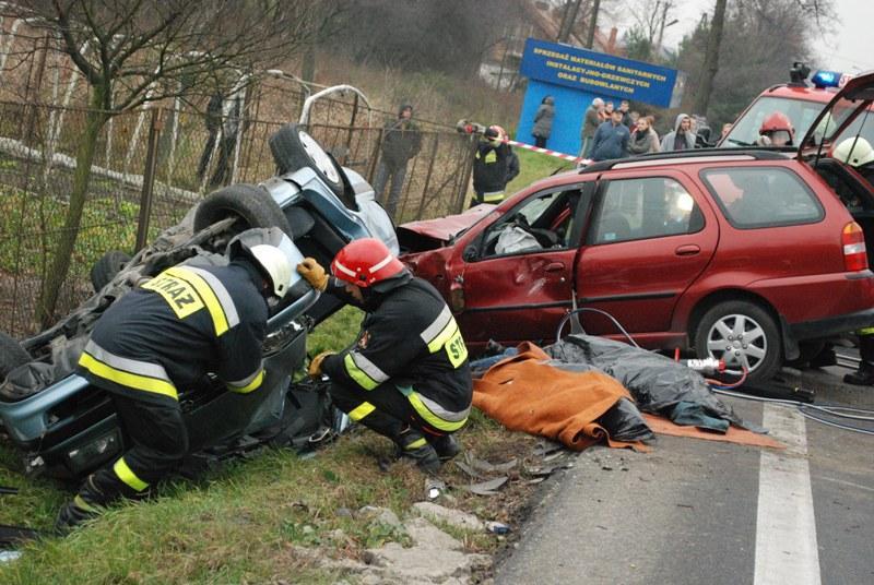 Wypadek w Jaśle. Fot. terazJaslo.pl / Damian Palar