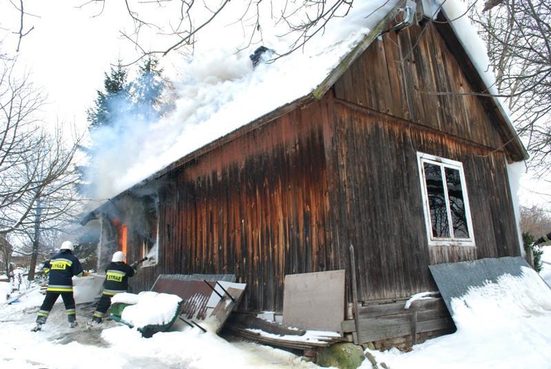 Pożar w Warzycach. Fot. terazJaslo.pl / Damian Palar