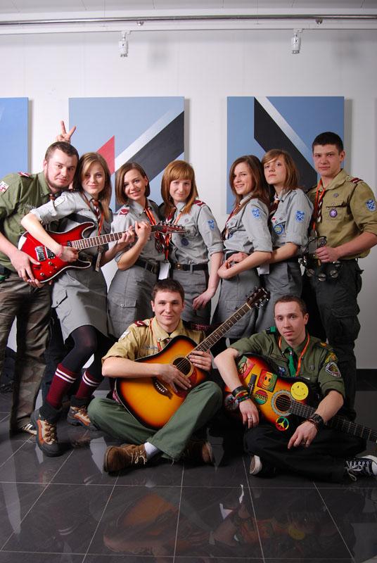 Zespół harcerski z Kołaczyc