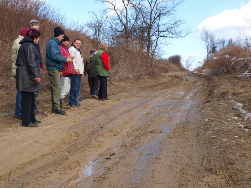 Fatalna droga powiatowa w Lisowie. Fot. terazJaslo.pl / Daniel Baron