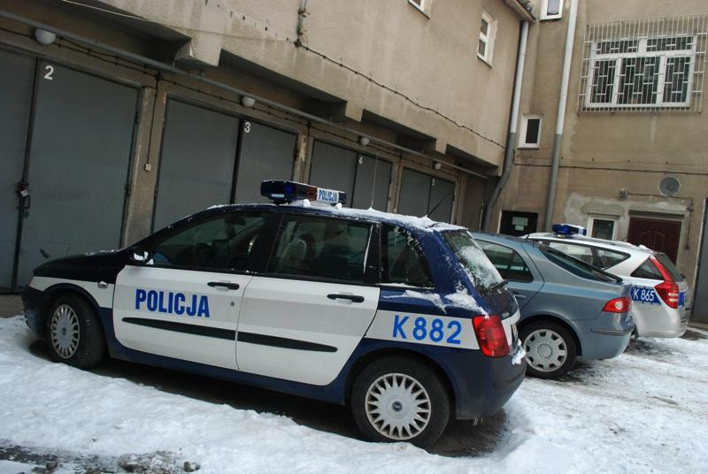 Parking radiowozów. Fot. terazJaslo.pl / Damian Palar