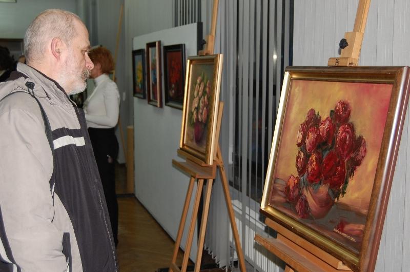 Wystawa malarstwa. Fot. Jasielski Dom Kultury