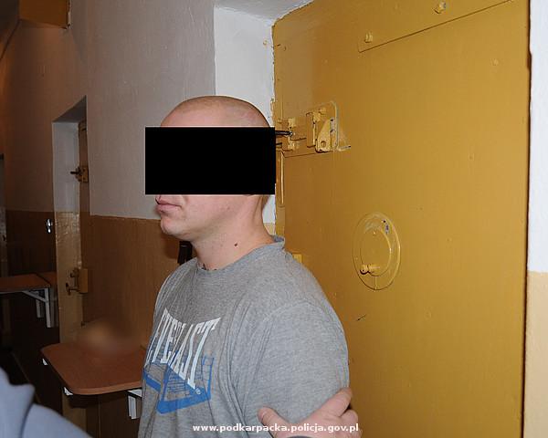 Agresywny mężczyzna zatrzymany. Fot. KPP Jasło