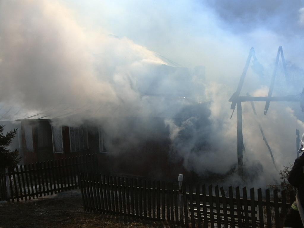 Pożar w Siedliskach Sławęcińskich. Fot. PSP Jasło