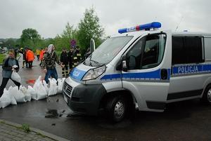 Policja na ulicy Krasińskiego. Fot. terazJaslo.pl / Damian Palar