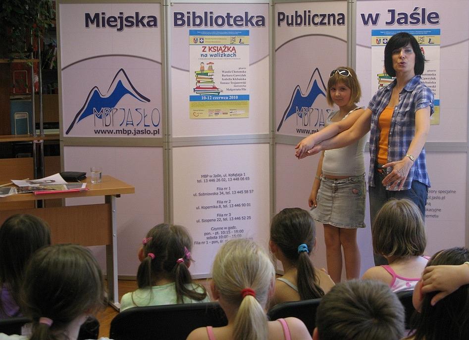 Spotkanie z Izabelą Klebańską. Fot. MBP w Jaśle