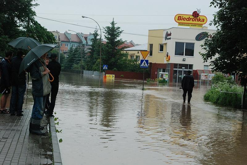 Powódź w Jaśle. Fot. Damian Palar / terazJaslo.pl