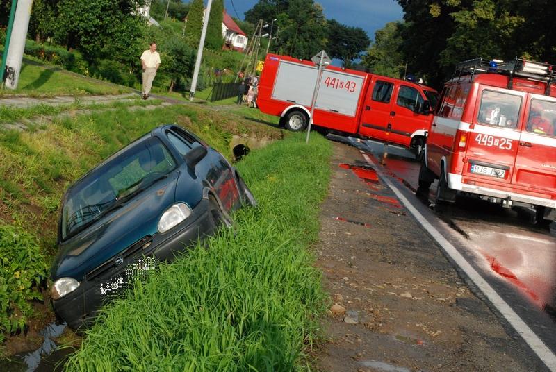 Wypadek w Sławęcinie. Fot. terazJaslo.pl / Damian Palar