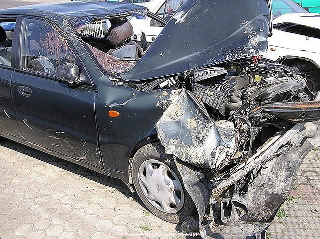 Wypadek w Łaskach. Fot. KPP w Jaśle