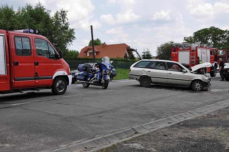 Wypadek w Szebniach. Fot. terazJaslo.pl / Damian Palar