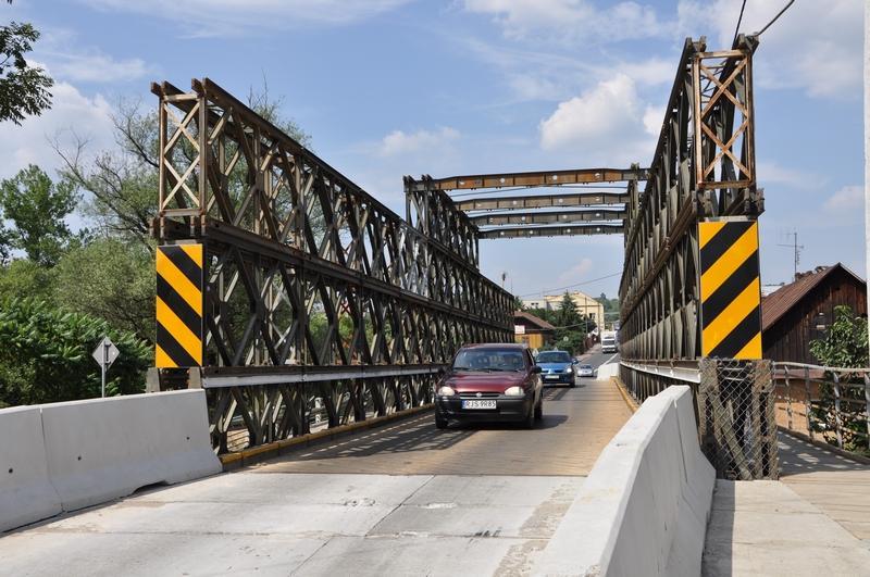 Tymczasowy most w Kołaczycach