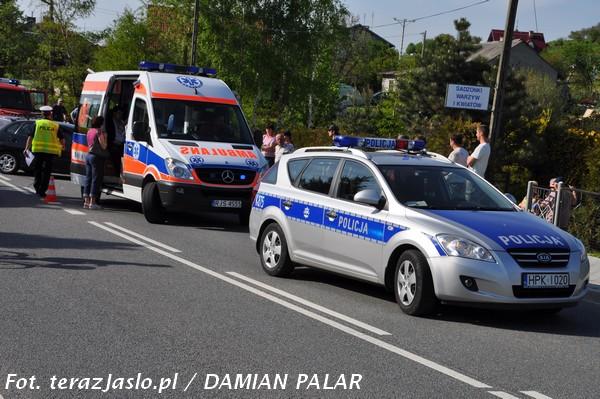 Wypadek w Zarzeczu. Fot. terazJaslo.pl / Damian Palar