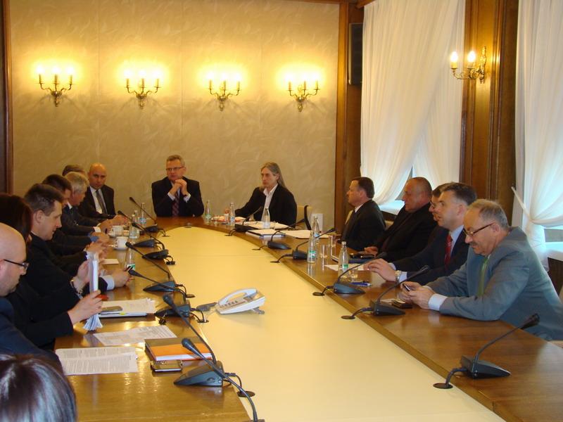 Spotkanie w ministerstwie. Fot. Jan Łucki
