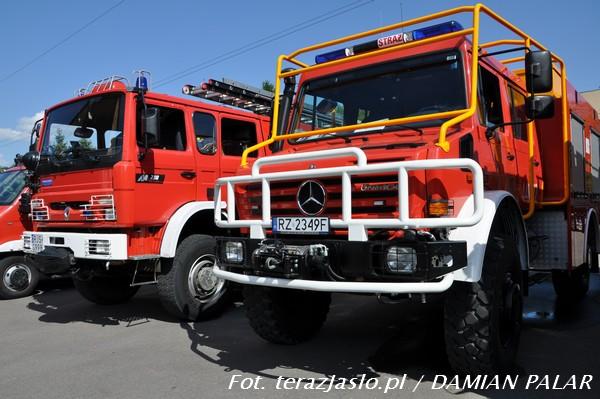 Nowy samochód ratowniczo-gaśniczy. Fot. archiwum terazJaslo.pl / Damian Palar