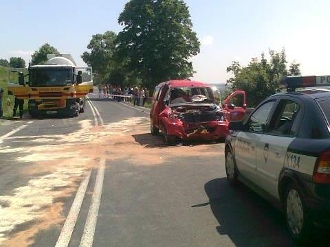 Wypadek w Bukowej. Fot. KPP Dębica