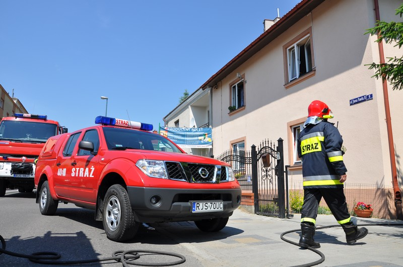 Pożar przy ulicy Jana Pawła II